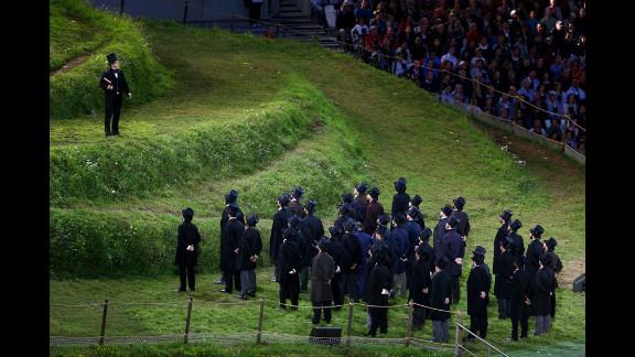 Kenneth Branagh performs as Isambard Kingdom Brunel.
