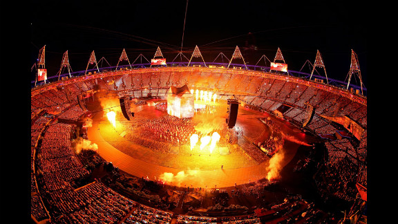 A general view of the opening ceremony.
