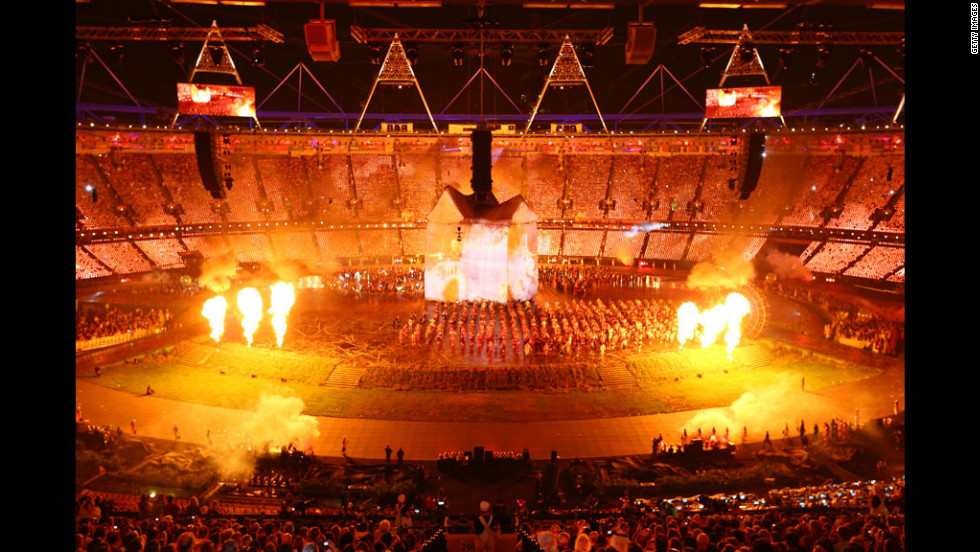 A broad view of the opening ceremony.