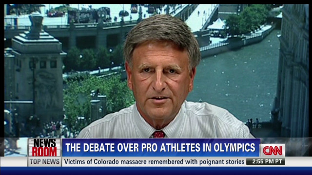 Debate over pro athletes in the Olympics