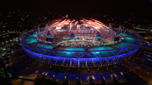 Fireworks light up the sky during the opening ceremony. Check out photos from the closing ceremony.