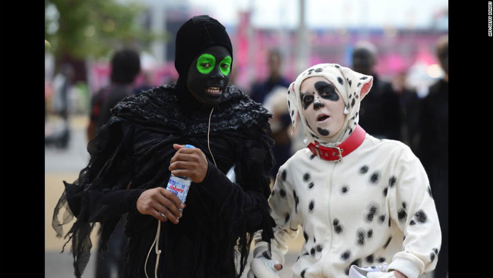 The spirit of the Olympics softens hearts all over. Here, Death makes conversation with a lonely Dalmatian before stealing her soul and carrying her to the underworld.