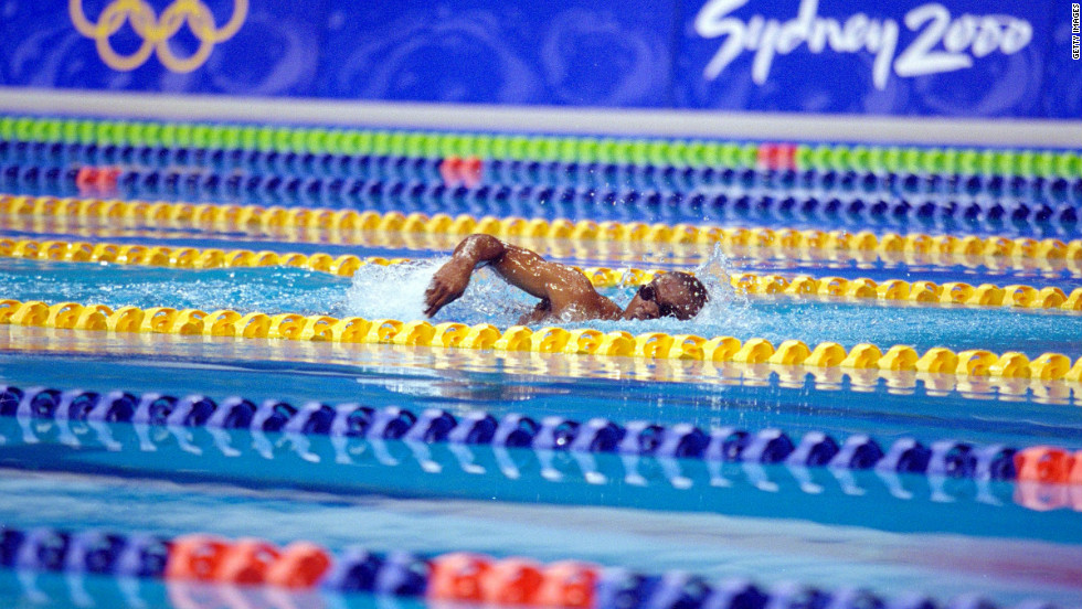 The reason that Moussambani could swim at Sydney was because the International Olympic Committee gives out a limited number of wild cards to developing nations.
