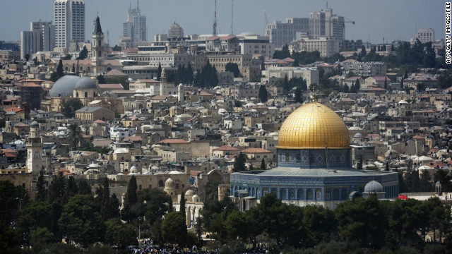 A picture shows the skyline of Jerusalem with the Dome of the Rock mosque, at the Al-Aqsa mosque compound in the city's old city,on September 5, 2008.