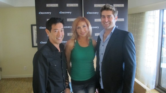 """MythBusters"" members Grant Imahara, Kari Byron and Tory Belleci are leaving the show."