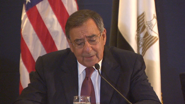 Panetta meets new Egyptian president