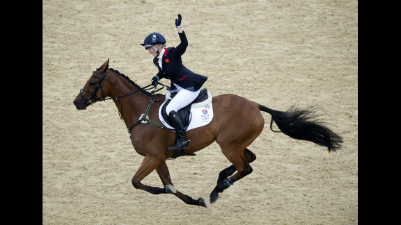 Zara Phillips, who is granddaughter of Britain