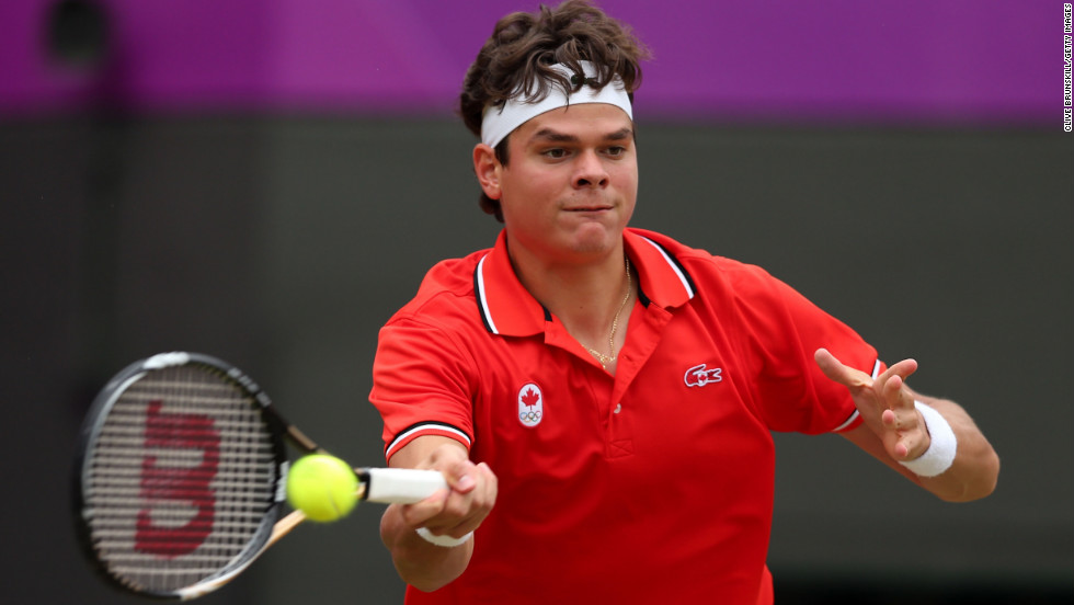 Canada's 2011 ATP Tour newcomer of the year Milos Raonic proved to be a tough opponent for Tsonga. The world No. 23 won the second set and had a vastly superior second serve game in the decider.