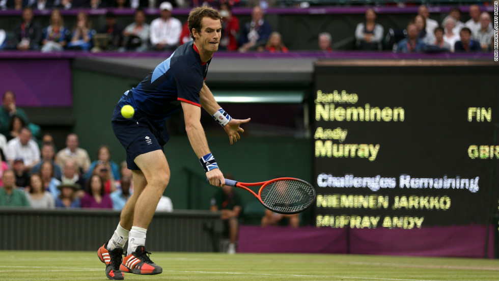 Murray was the only British player left in the Olympic tennis singles competitions following his victory against Nieminen during the second round of men's Singles. All the GB ladies singles competitors lost.