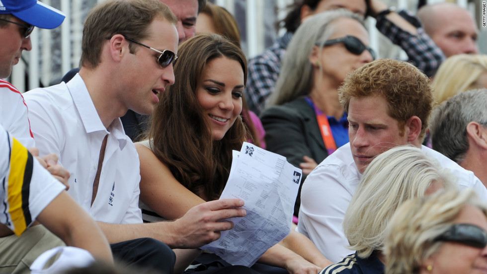 Britain's royal family have a strong interest in horse competition of all types. Prince William, his wife Catherine and Prince Harry are pictured here.
