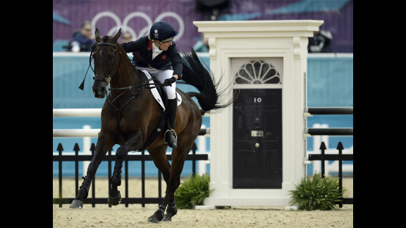 Kristina Cook helped Great Britain win silver in the team eventing competition.