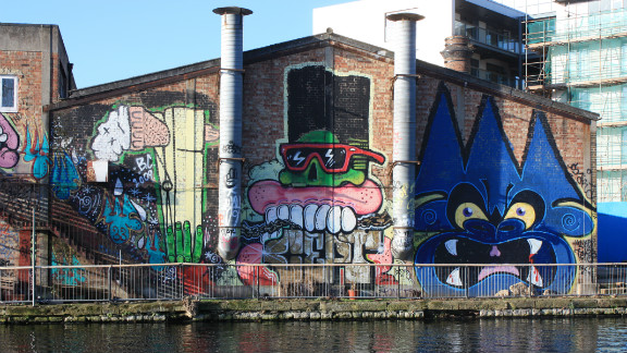 A collaboration between Burning Candy Crew artists Cept, Tek33, Mighty Mo, Gold Peg, Sweet Toof and Cyclops directly opposite the Olympic stadium in Hackney Wick. Parts of the work have since been removed as the buildings are converted into cafes and bars.