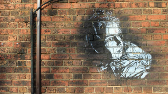 French street artist C215 has degrees in history and art. His multi-layered stencils have graced walls, doors and bins from London to New York,  Morocco to Barcelona. This portrait of his daughter survives on Roach Road in Hackney Wick.