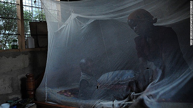 Sleeping under a bed net can reduce chances of contracting malaria.