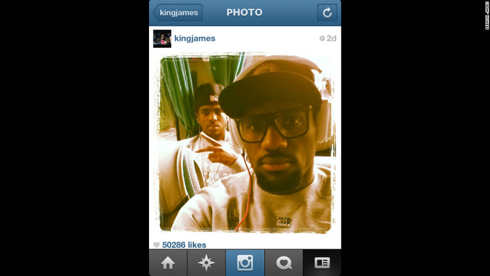 Members of the star-studded USA men's basketball team are documenting their Olympics experiences on Instagram, the photo-sharing app. Here, LeBron James and Chris Paul -- game faces on -- ride the team bus on their way to their first game vs. France. LeBron & Co. won, 98-71.