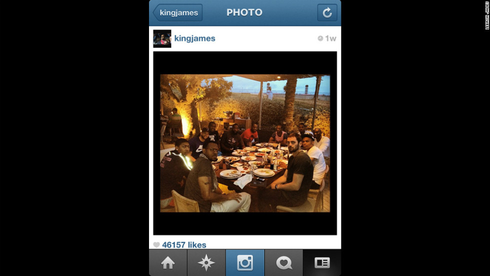A team meal outdoors in Barcelona, where Team USA played two exhibition games.