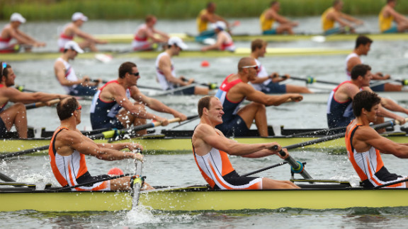 The Netherlands team competes in the men