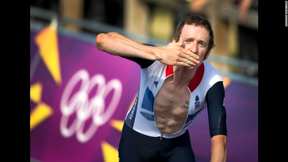 Wiggins romped to gold in the time trial, winning by a 42-second margin, in front of a vociferous home crowd. It meant he became one of Britain's most decorated Olympians with seven medals, four of them gold.