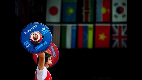 Jong Sim Rim of North Korea competes in the women