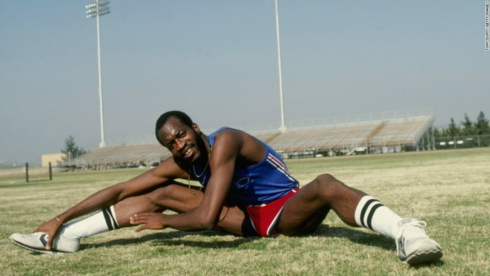 """They used to call me Kermit in high school because I had these frog legs,"" Moses says. But although naturally long-limbed, Moses says professional athletes are made, not born. ""I started out not a talented person in track and field and just loved the sport and put so much into it that I became one of the best."""