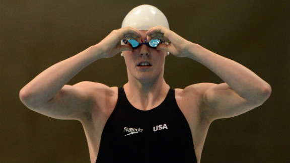 Missy Franklin of the United States prepares for a women
