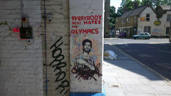 Although Hackney Wick borders the Olympic park, many residents and artists say they are skeptical about the long-term benefits to the area.