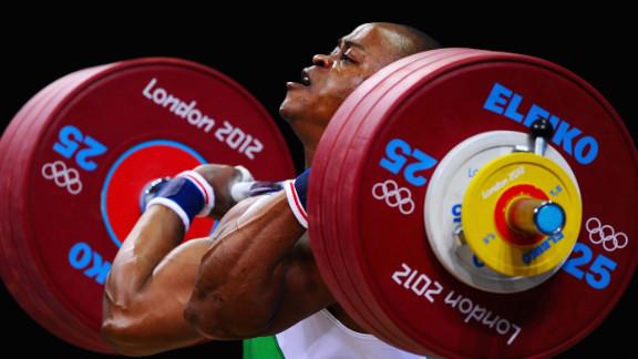 Felix Ekpo of Nigeria competes in the men
