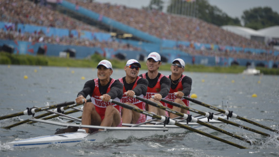Team Russia competes in the men