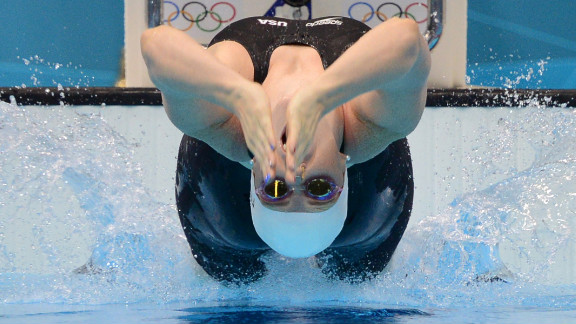 U.S. swimmer Missy Franklin competes in the women