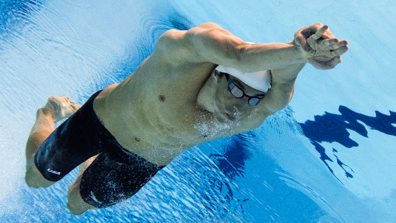 Michael Phelps of the United States competes in the men