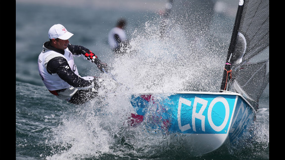 Ivan Kljakovic Gaspic of Croatia competes in the men