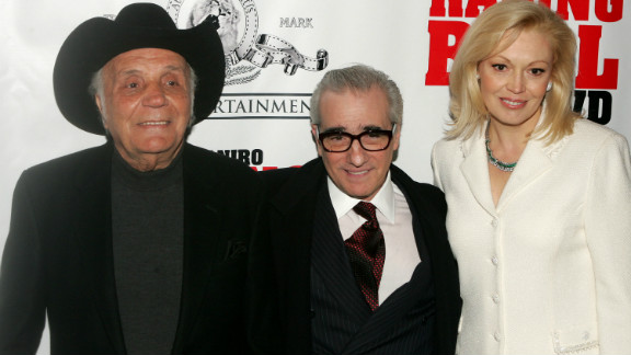"""Jake LaMotta, Martin Scorsese and Cathy Moriarty attend a special screening of """"Raging Bull"""" to celebrate it's 25th anniversary."""