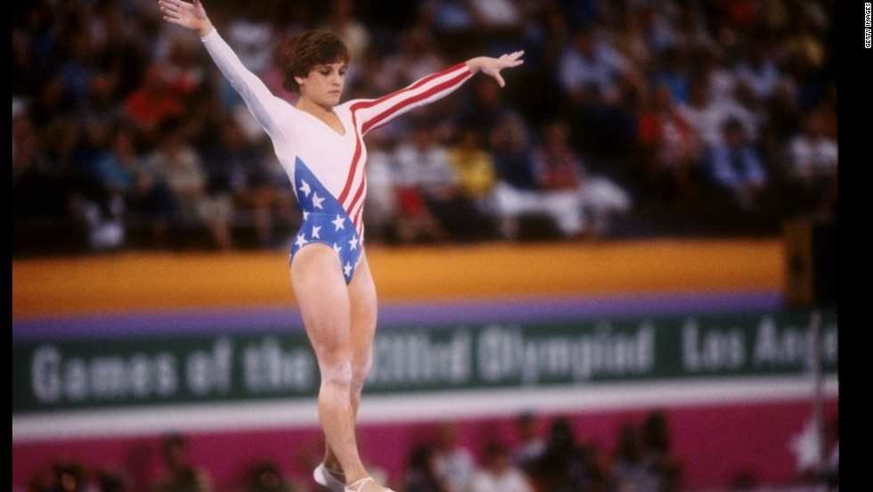 Mary Lou Retton became the first American woman to win gold in the individual all-around event in 1984, breaking eastern Europe's stranglehold on the competition. She also won two silvers and two bronzes, becoming a national hero.
