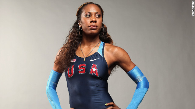 DALLAS, TX - MAY 13: Track and field athlete, Sanya Richards-Ross poses for a portrait during the 2012 Team USA Media Summit on May 13, 2012 in Dallas, Texas. (Photo by Nick Laham/Getty Images)