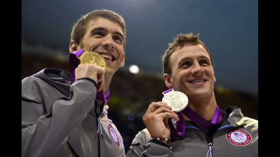 Phelps bested Lochte, right, on Thursday to win the gold in their second head-to-head race. Over the weekend Lochte took gold in the 400-meter individual while Phelps could only manage fourth.