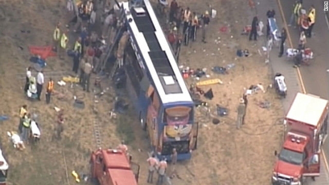 One person was killed and several were injured after a Megabus crashed in Illinois, Thursday.