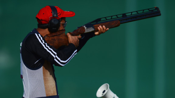 Ahmed Al Hatmi of Oman competes in the men