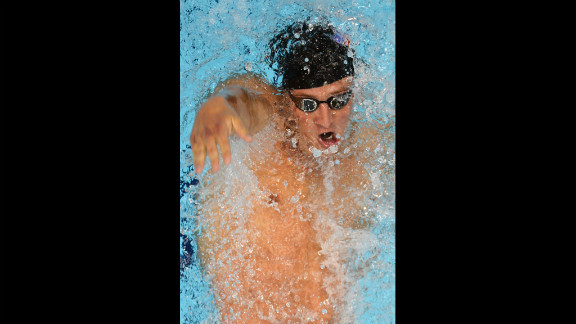 Ryan Lochte competes in the men