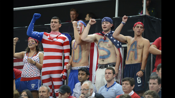 United States supporters attend the women
