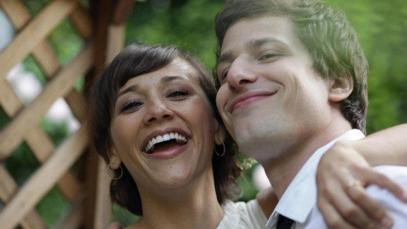 "Rashida Jones and Andy Samberg star in ""Celeste and Jesse Forever."""