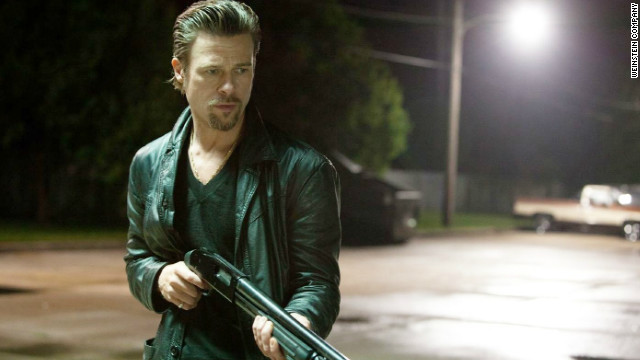 "Brad Pitt stars as professional killer Cogan in ""Killing Them Softly."""