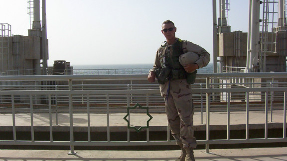 Shane Farlin during his time in the U.S. Army.