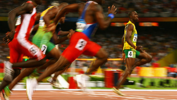 The 25-year-old Bolt became a global star after smashing the world record at the 2008 Beijing Olympics. He won three golds, in the 100, 200 and 4x100 meter relay, breaking three world records in the process.