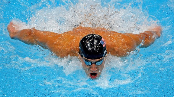 Michael Phelps competes in the men
