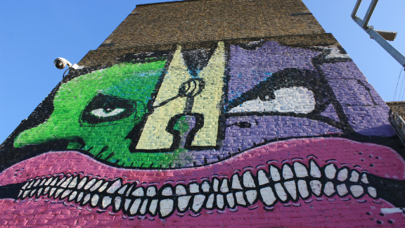 There are a number of epic Burning Candy Crew murals along the canal paths around Hackney Wick. This one features four of BC Crew -- Cyclops, Gold Peg, Mighty Mo and Sweet Toof. Olympic Authorities have closed the paths for the duration of the Olympics, so seeing them will be a challenge.