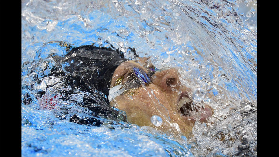 United States swimmer Elizabeth Beisel competes in the women