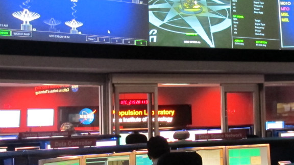 Mission Control for Curiosity at NASA's Jet Propulsion Laboratory in Pasadena, California.