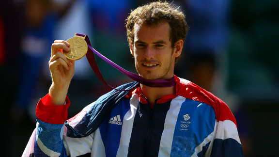 Andy Murray won his first major tennis title defeating world No. 1 Roger Federer in the Olympic final at Wimbledon
