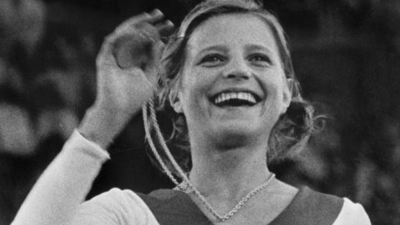 As one of the Olympians featured in the exhibition, Korbut was chosen as the speaker and guest of honor in recognition of her victories 40 years ago in Munich.