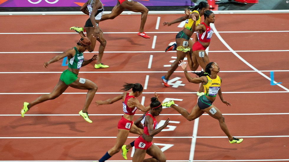 At London 2012, Fraser-Pryce triumphed in a time of 10.75 seconds from American Carmelita Jeter and fellow Jamaican Veronica Campbell-Brown.